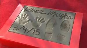 L'impronta di Vince Vaughn sulla Hollywood Walk of Fame