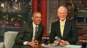 David Letterman, gran finale con Obama
