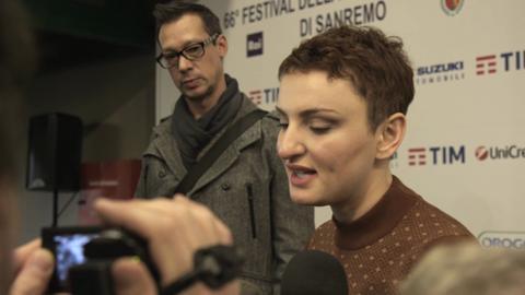 Arisa incontra i giornalisti in conferenza stampa a Sanremo 2016