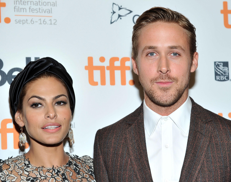 """TORONTO, Eva Mendes e Ryan Gosling alla proiezione di """"The Place Beyond The Pines"""" nel 2012 al Toronto International Film Festival"""