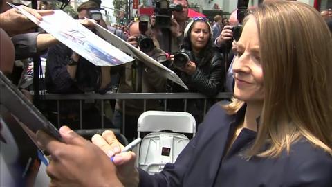 Jodie Foster riceve la stella sulla Walk Of Fame
