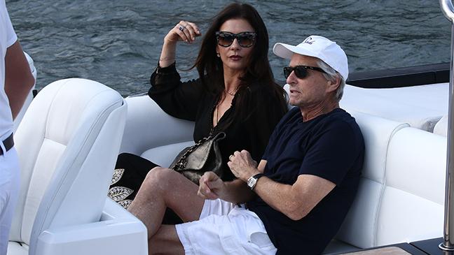 Michael Douglas e Catherine Zeta-Jones a Saint Tropez