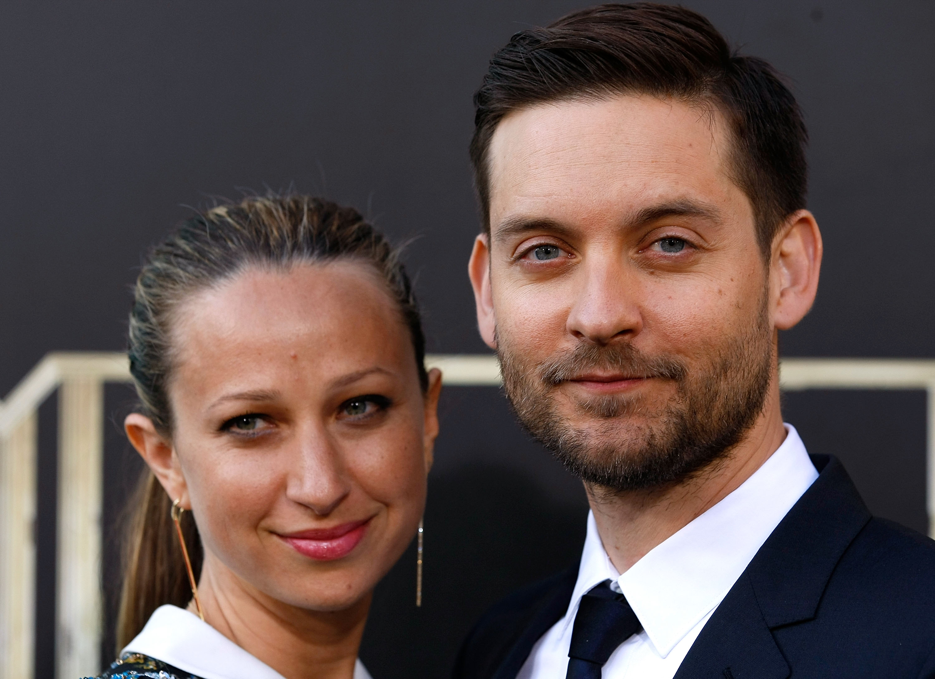"""NEW YORK, NY - MAY 01: Jennifer Meyer Maguire and actor Tobey Maguire attend the """"The Great Gatsby"""" world premiere at Avery Fisher Hall at Lincoln Center for the Performing Arts on May 1, 2013 in New York City. (Photo by Jemal Countess/Getty Images)"""