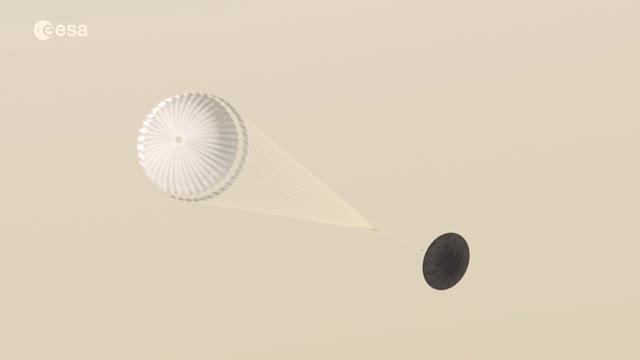 L'animazione della sonda Schiaparelli su Marte